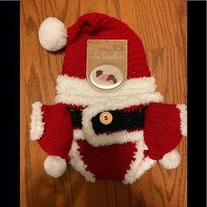 Hand crocheted newborn santa set